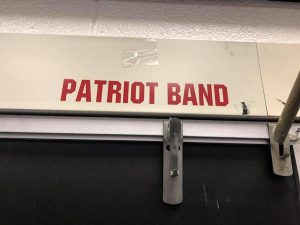 Patriot Band words in red