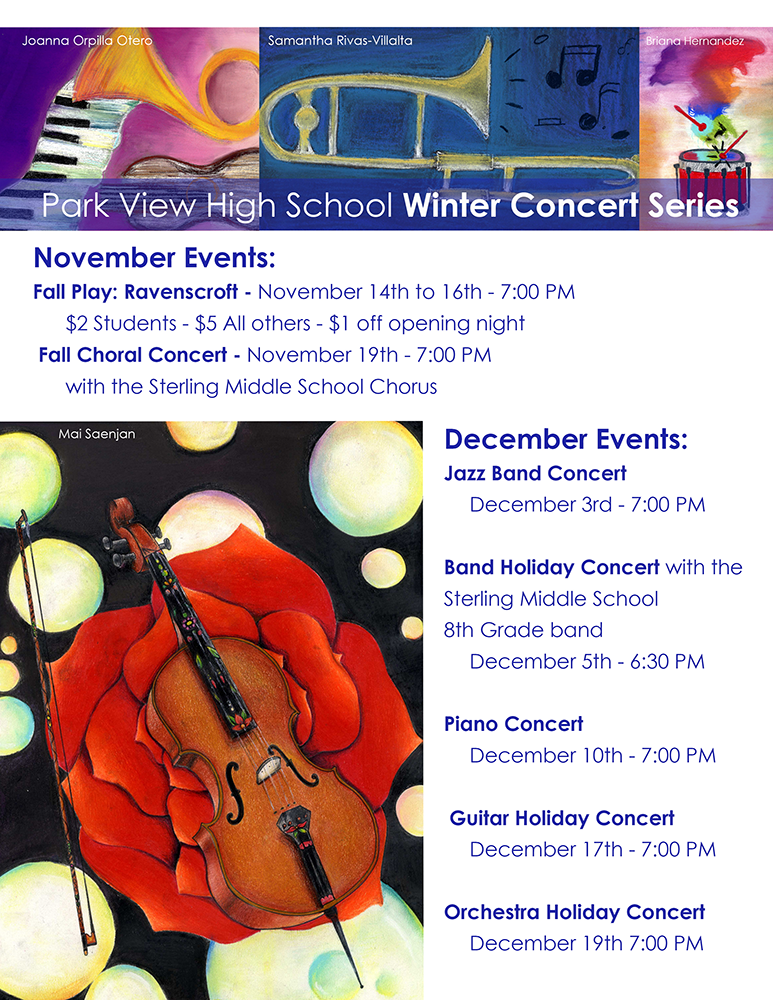 Park View High School Winter Concert Poster