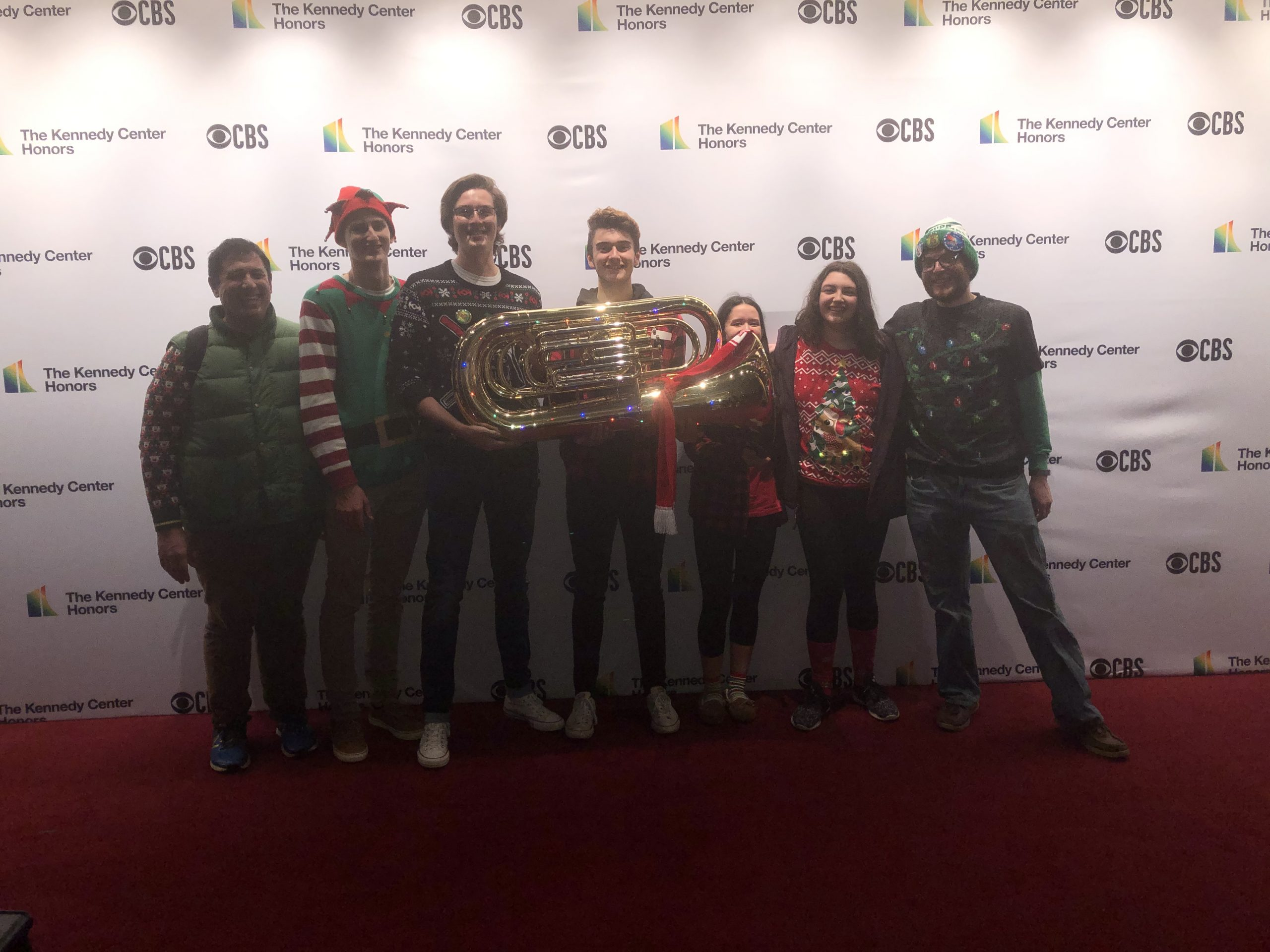 Park View Band Members and director Brian Morton at 2019 Tuba Christmas